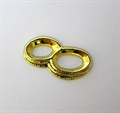 Eheringe oval 14x27mm gold 25mm