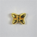 Metall-Perle Schmetterling 5mm gold