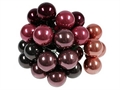 Glasbeeren 20mm 12erBund brombeer-Mix