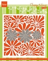 Embossing Folder mit Stanzschablone Blume I