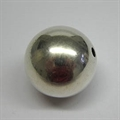 Metall-Perle 30mm silber