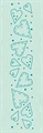 Border Embossing Folder Herzen