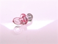 Nuggi 31x14mm transparent rosa