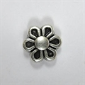 Metall-Perle Blume 7mm silber