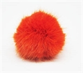 Kunstfell-Pompon 10cm orange