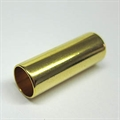 Metall-Hülse 25x9mm gold