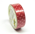Washi Tape 10mx15mm Punkte rot