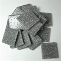 Glasmosaik 20x20mm 200gr Joy silbergrau