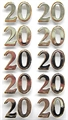 Art Work Sticker: 20 gold-silber