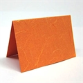 Tischkarte Japanpapier orange