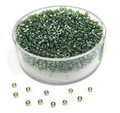 Delica Beads 2mm 7g grün schimmer transparent