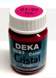 Glasmalfarbe Deka Cristal 25ml pink